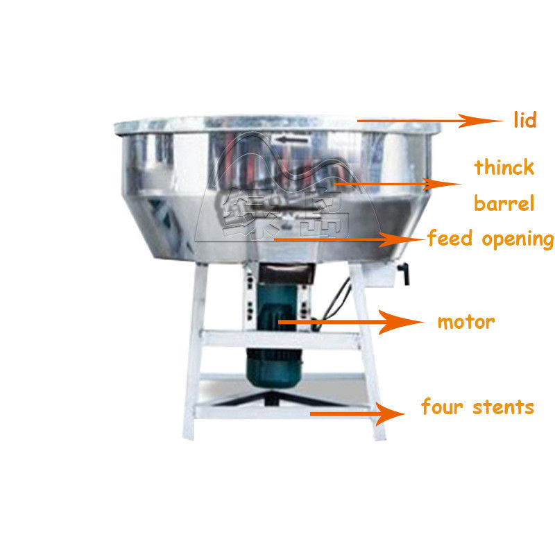 Vertical Plastic Mixer Machine Capacity 150 Kg/H With Castor Wheel LDH-100 1.5kw